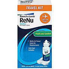 renu brand contact lens care travel kit non makeup kit essentials