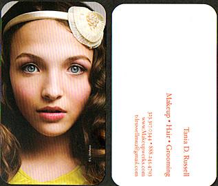 TDRcurrentbizcard pro makeup artist marketing basics