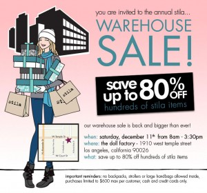 Stila Warehouse Sale