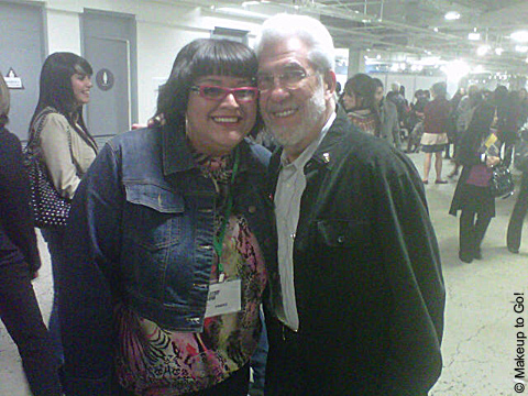 makeup to go blog makeup los angeles makeup san francisco maquillaje Delia Jimenez Owens and Maurice Stein at The Makeup Show Los Angeles 2011 Exposición de Maquillaje de Los Angeles 2011