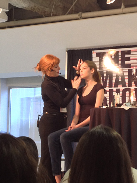 allison elliot for nars cosmetics demonstration makeup show la 2013