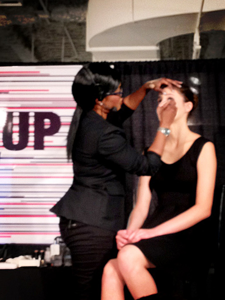 uzo international makeup stylist NARS cosmetics makeup show la 2013