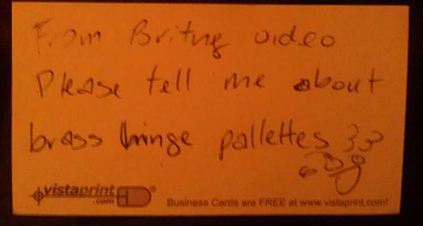 brenda green biz card note