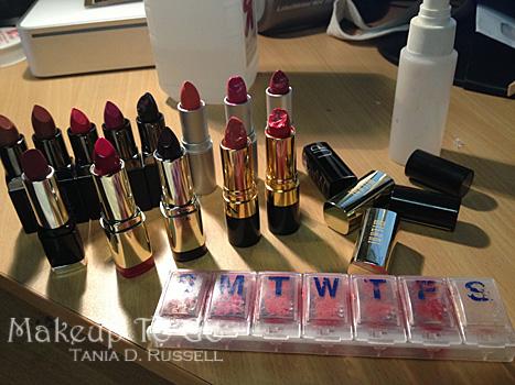 tania d russell lipstick collection makeup kit organization