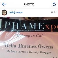 makeup to go delia j owens badge 2014 phamexpo