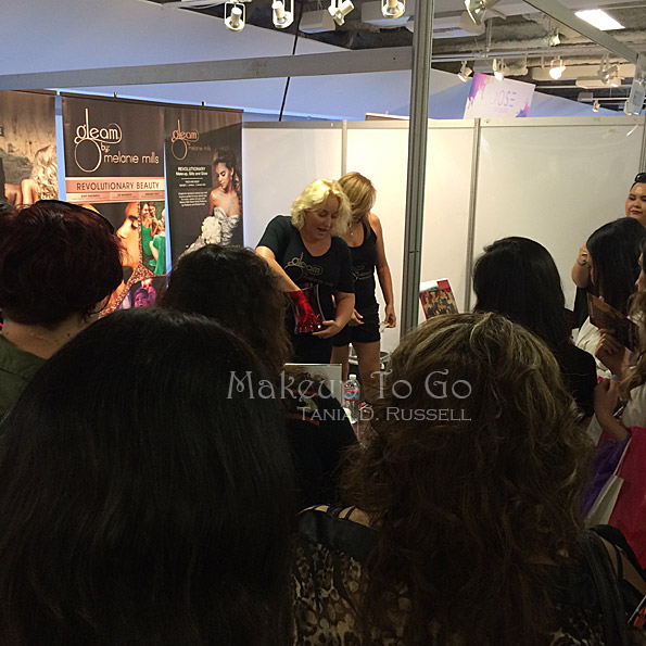 makeup to go blog makeup show los angeles 2015 wrap up melanie mills gleam cosmetics