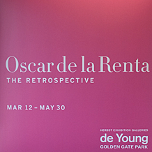 makeup to go blog oscar de la renta retrospective de young museum san francisco