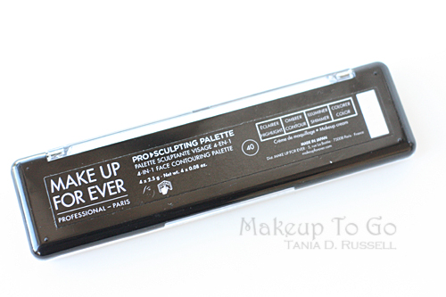 makeup to go blog makeup artist los angeles makeup artist san francisco makeup educator erin MUFE foundation only makeup monday skinwerks make up for ever ultra hd pro sculpting palette closed