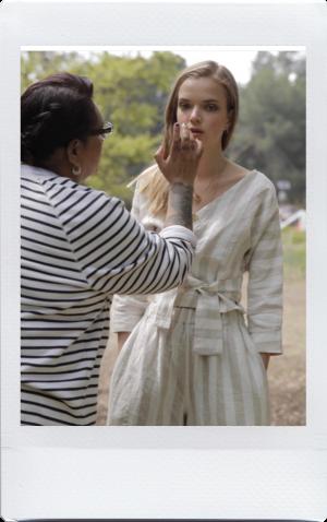 delia j owens working on set makeup to go blog tania d russell makeup expert beauty educator los angeles san francisco las vegas