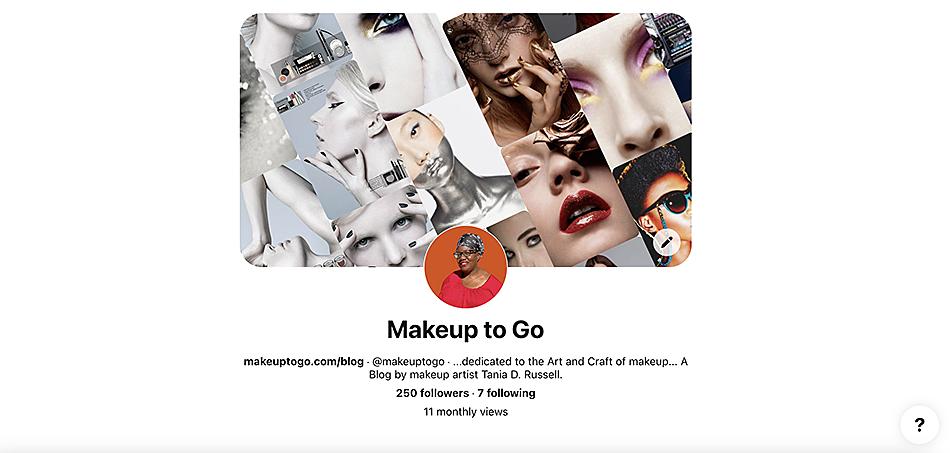 makeup to go blog tania d russell makeup educator Los Angeles San Francisco makeuptogo pinterest account